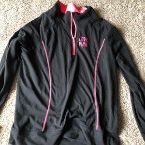Love Pink Half Zip Yoga Sweatshirt